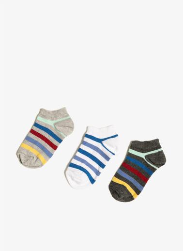 Koton 3'lü Çorap Gri